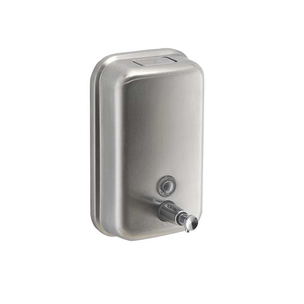 Manual Steel Hand Soap & Sanitizer Dispenser 1 Liter