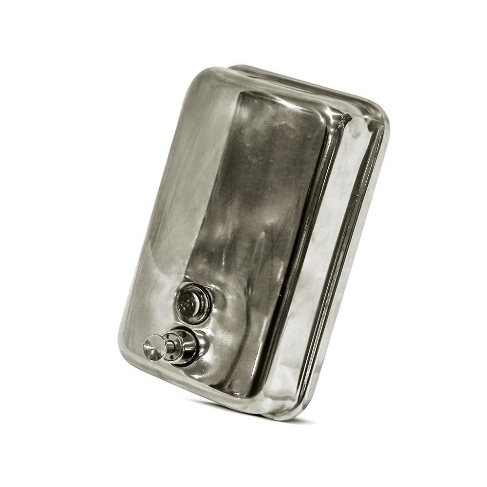 Manual Stainless Steel Hand Soap & Sanitizer Dispenser 1 Liter