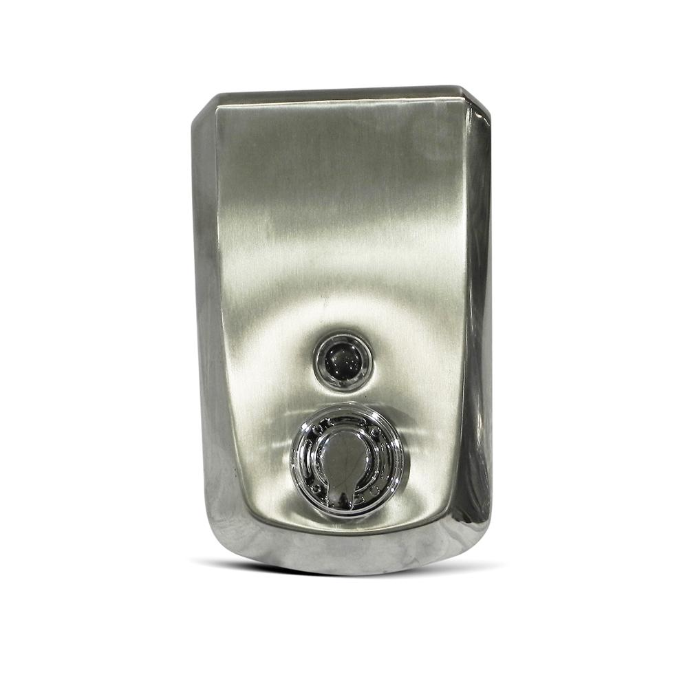 Manual Steel Foam Hand Soap & Sanitizer Dispenser 1 Liter