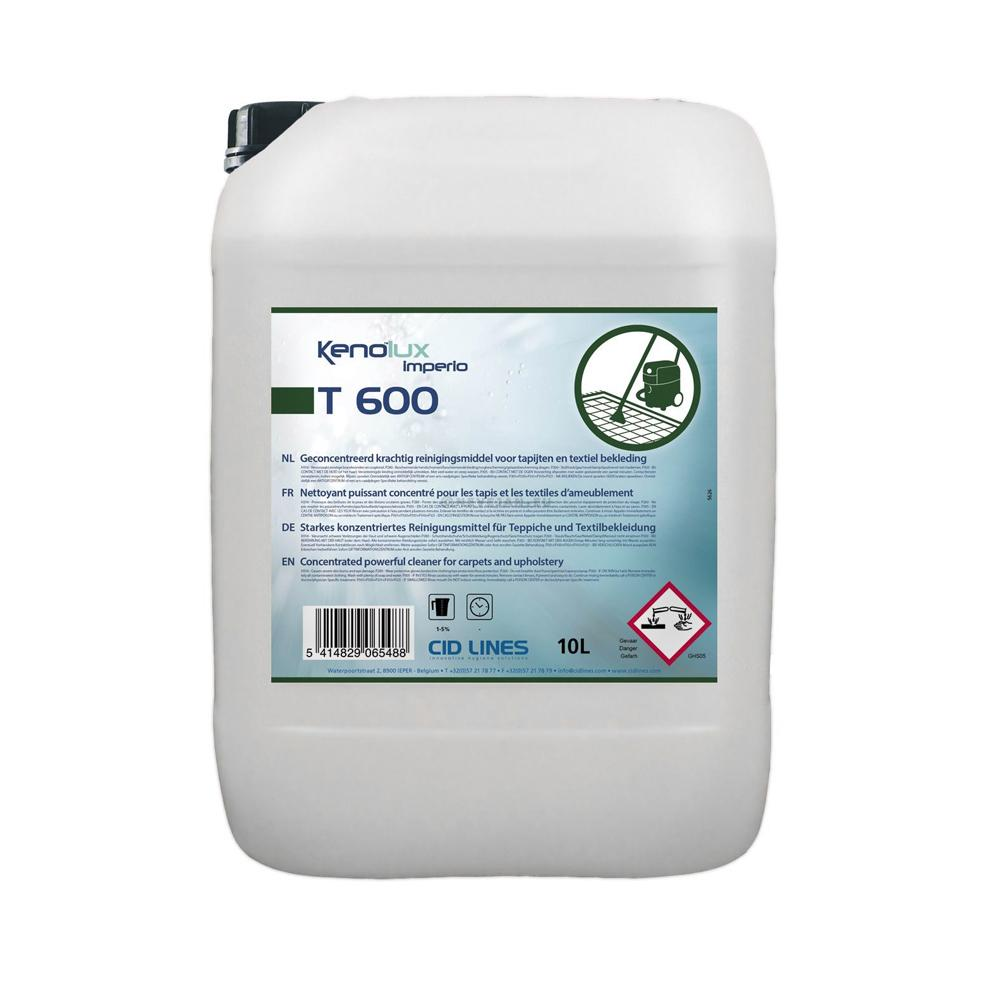 Kenolux T600 Degreases and Removes Stains from Carpets and Upholstery without Foaming 10 Liters