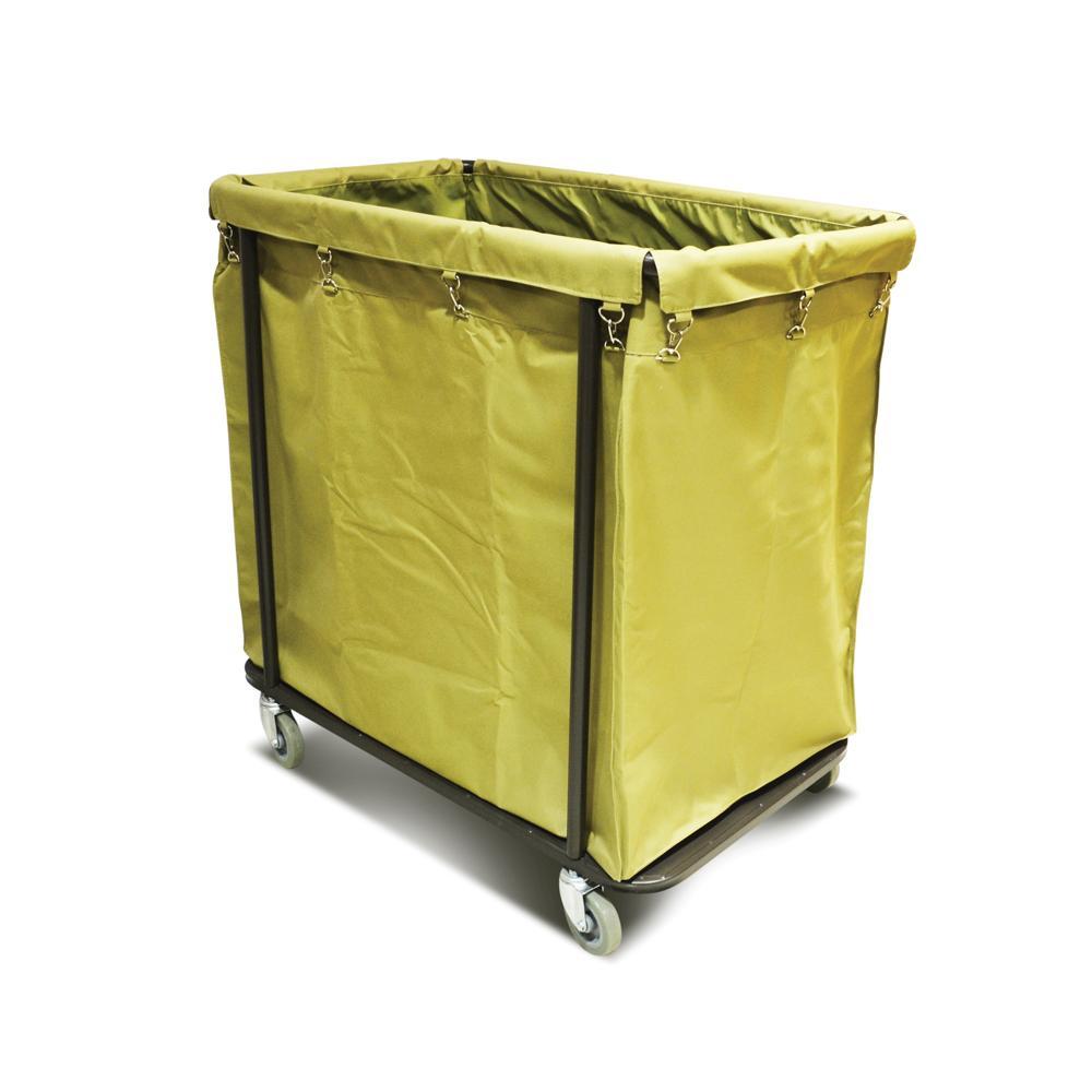 Long Metal Rectangular Laundry Cart