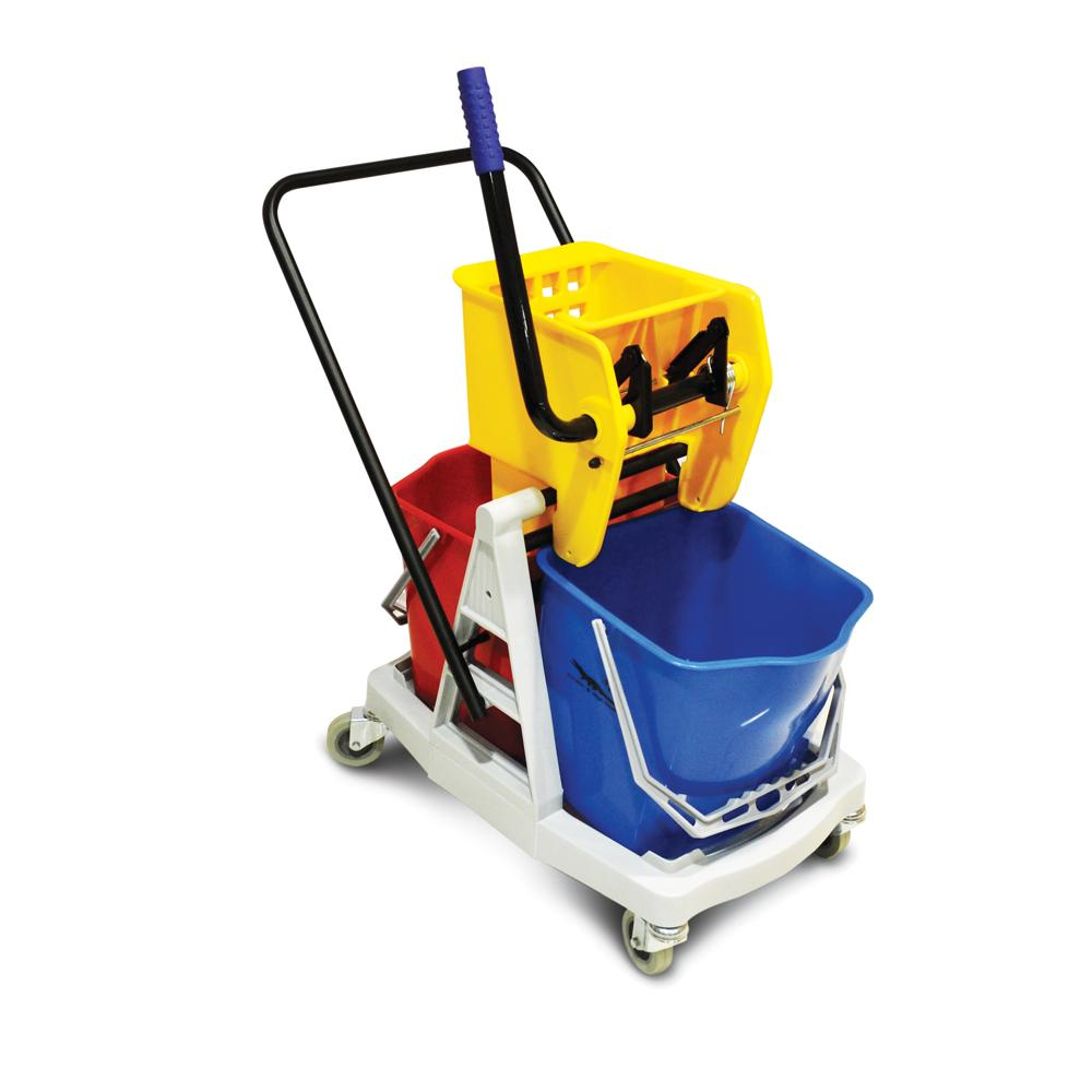 Mop Trolley with Two Buckets 34 Liters