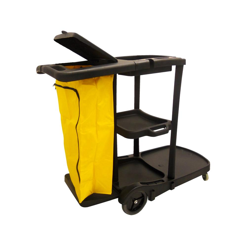 Plastic Janitor Trolley With One Bag