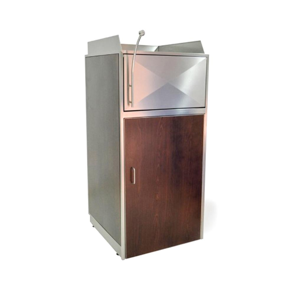 Push Lid System Food Court Waste Station with handle 90 Liters