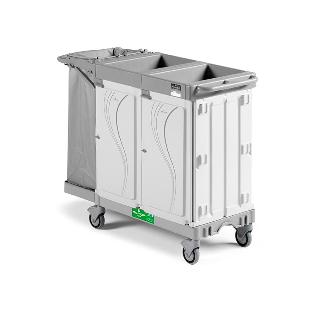 Alpha Hotel Service Trolley with One Sided Bag