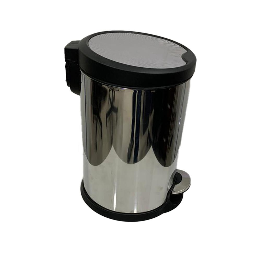 Stainless Steel Slow Motion Bin with Pedal 12 Liters