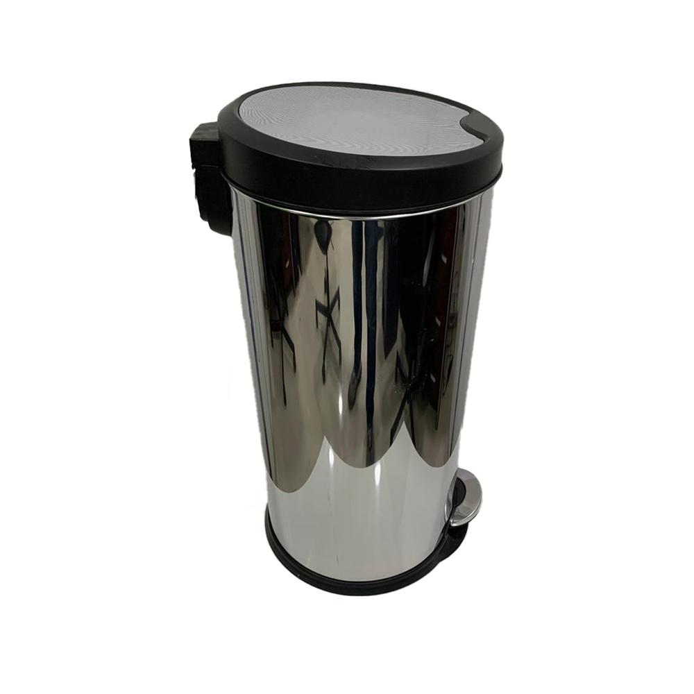 Stainless Steel Slow Motion Bin with Pedal 27 Liters