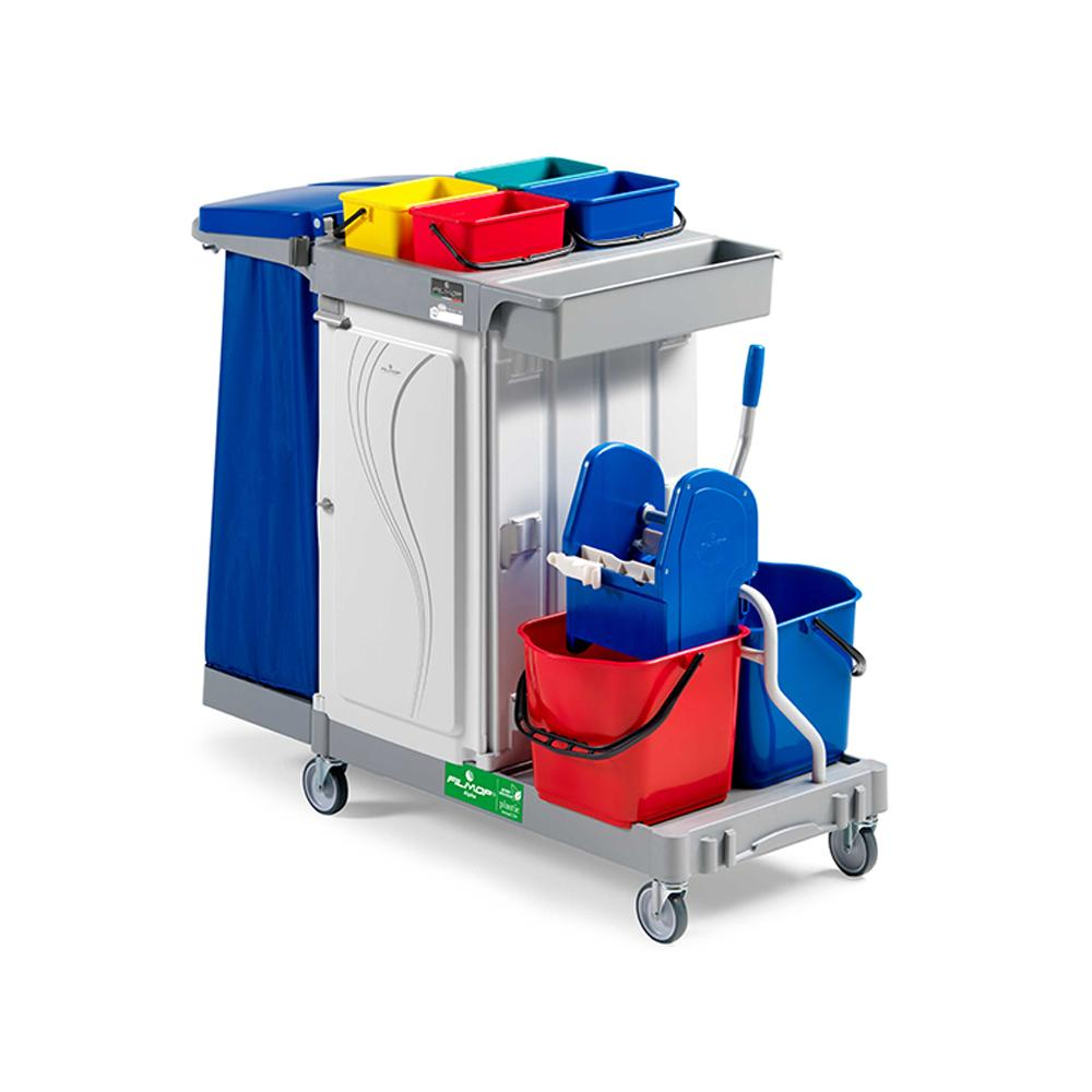 Multifunction Trolley Gray, Red & Blue