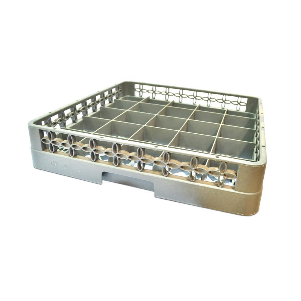 Plastic  Gray 25 Compartment Glass Rack