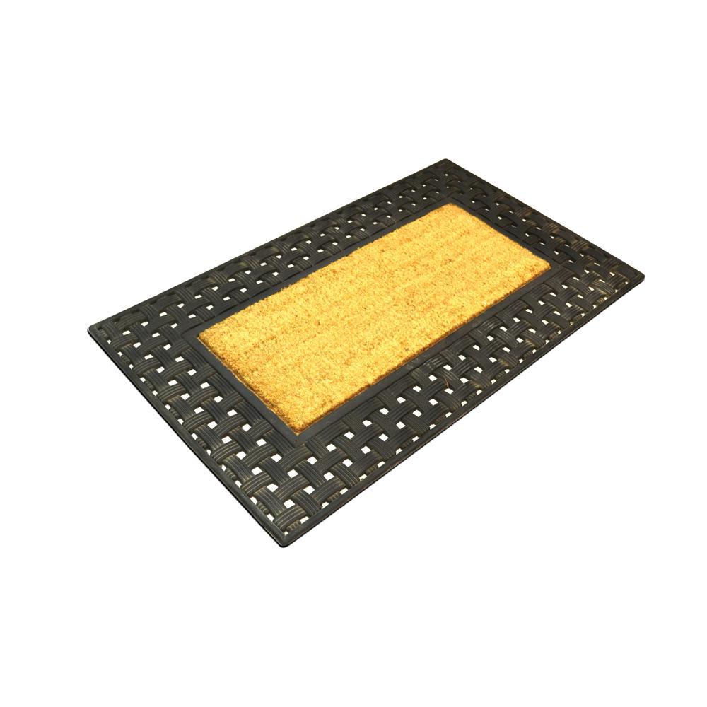 Coco Door Mat with Plastic Grill 55 x 90 cm