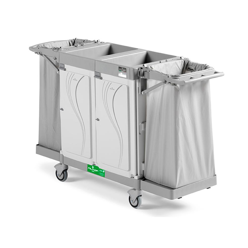 Alpha Hotel Service Trolley with Two Side Bags
