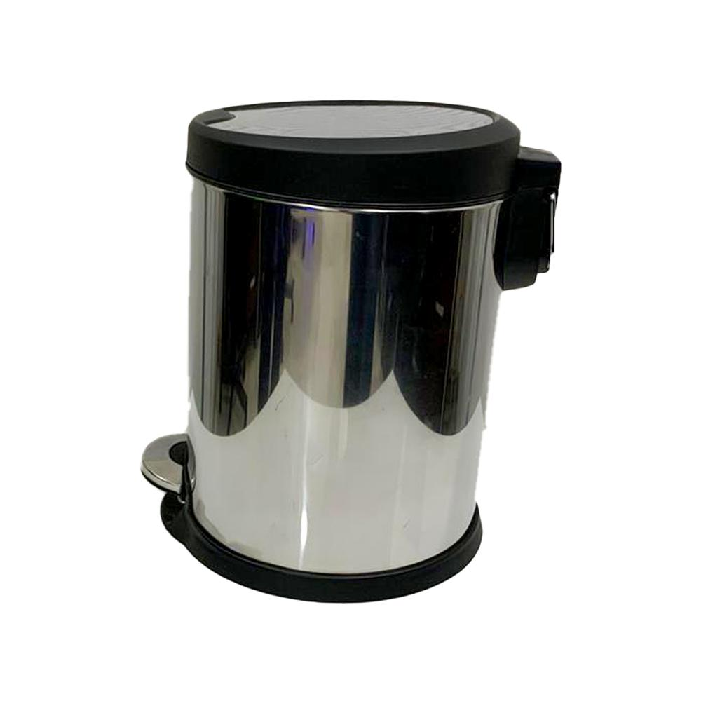 Stainless Steel Bin Slow Motion with Pedal 5 Liters
