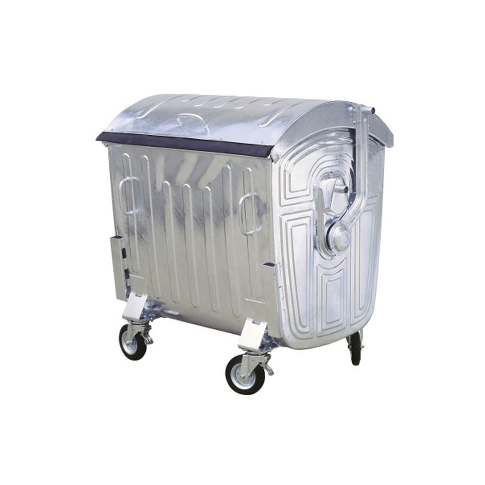 Galvanized Metal Dustbin Hot Dip 1200 Liters