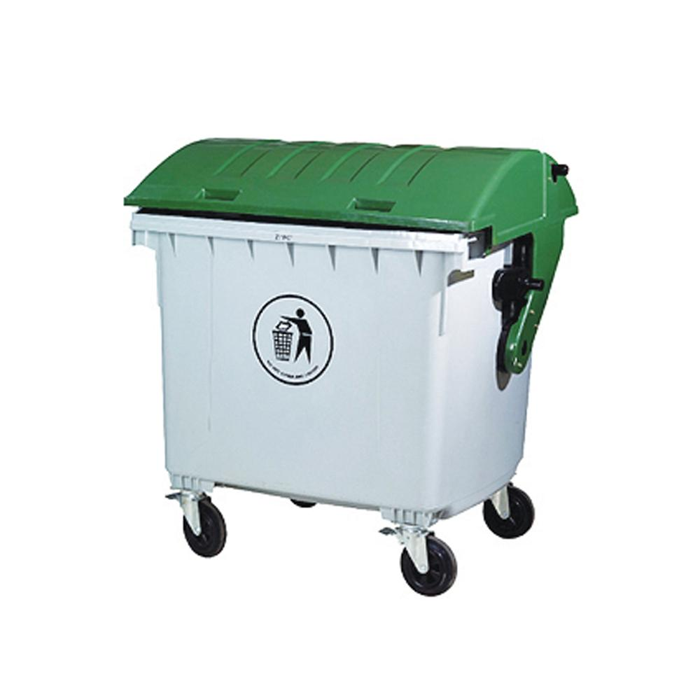 Outdoor Dustbin with Wheels and Brakes 1200 Liters
