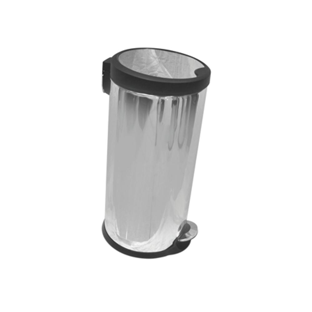 Stainless Steel Slow Motion Bin with Pedal 20 Liters