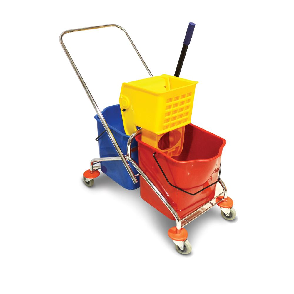 Mop Trolley with Two Buckets 50 Liters